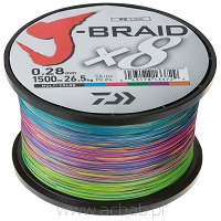Plecionka J-BRAID kolor multikolor 300m
